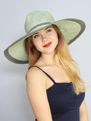 Шляпа серая в цветочный принт | 3469035