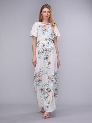 Платье молочное в цветы | 4058227