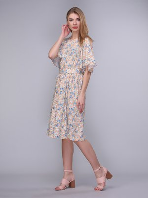 Сукня персикова в квіти   4058229