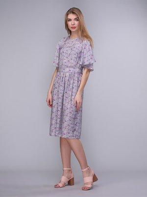 Сукня сіро-бузкова в квіти   4058231