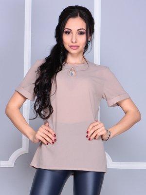 Блуза кольору мокко | 4058107