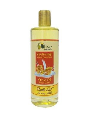 Гель для душа с оливковым маслом «Мед и молоко» для ежедневного использования (500 мл) | 4058929