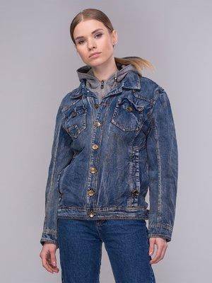 Куртка синя джинсова | 4031114