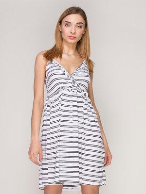 Платье белое в полоску | 4042750