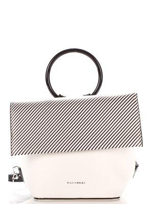 Сумка-рюкзак біла в смужку | 4033909