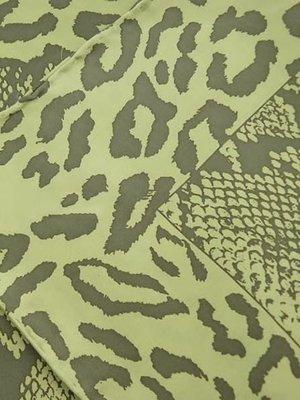 Хустка зелена в принт шовкова | 4058385