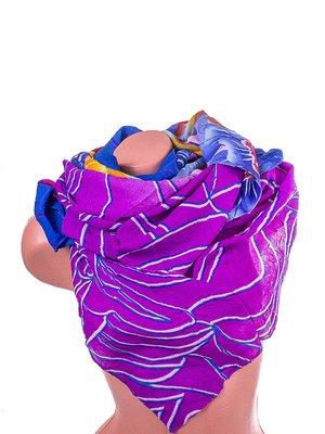 Шарф фіолетовий в принт | 4058436
