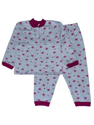 Піжама з начосом: лонгслів і штани | 4067437