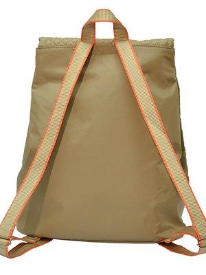 Рюкзак бежевый с принтом | 3712423