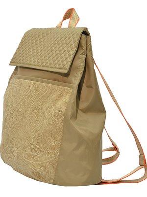 Рюкзак бежевий з принтом   3712423