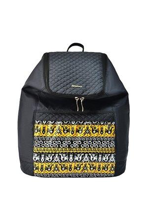 Рюкзак черный с орнаментом | 4021871