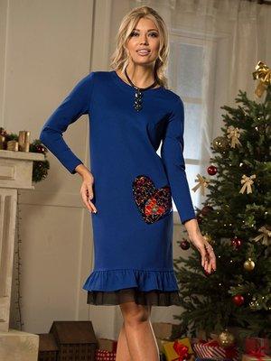 Платье синее | 3766774