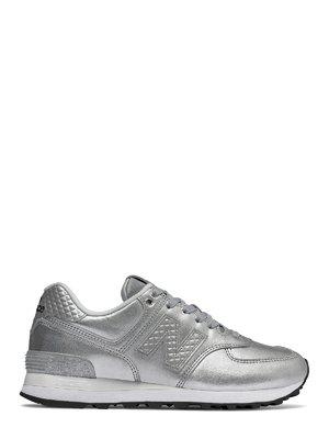 Кросівки сріблясті New Balance 574 Glitter | 4042544
