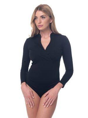 Блуза-боди черная | 4081873