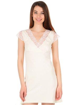 Рубашка ночная цвета шампань | 4084738
