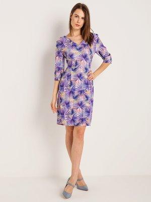 Платье фиолетовое в принт | 4090187