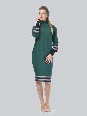 Платье темно-зеленое | 4090656