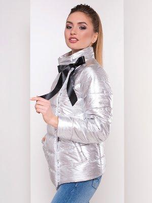 Куртка сріблястого кольору | 4104739