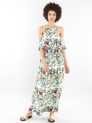 Платье белое в принт | 4108812