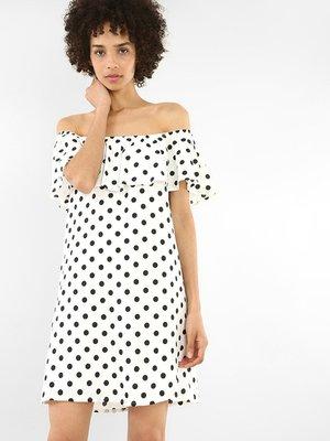 Платье белое в горох | 4108822