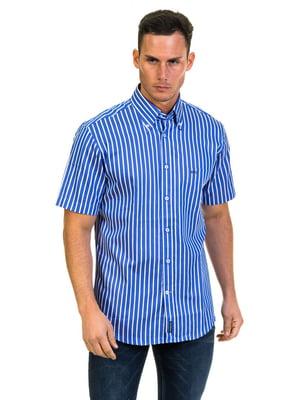 Рубашка синяя в полоску | 4105575
