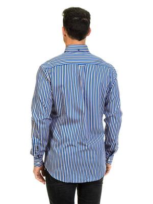 Рубашка синяя в полоску | 4105654