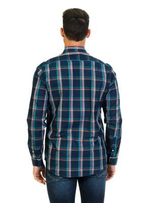 Рубашка синяя в клетку | 4105668