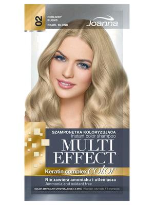 Шампунь для підфарбовування Multi Effect - №02 «Перловий блонд» (15 мл) | 4088061