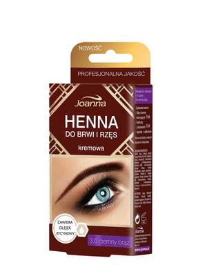 Фарба для брів і вій Henna — темно-коричнева | 4088032