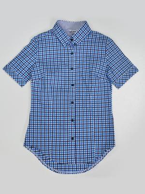 Рубашка с синяя в клетку | 4086089
