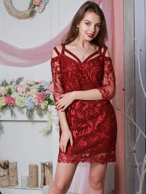 Платье бордовое | 4113668