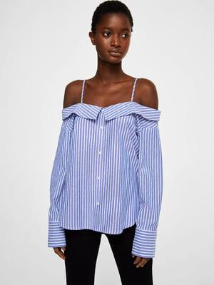 Блуза синяя в полоску   3956992