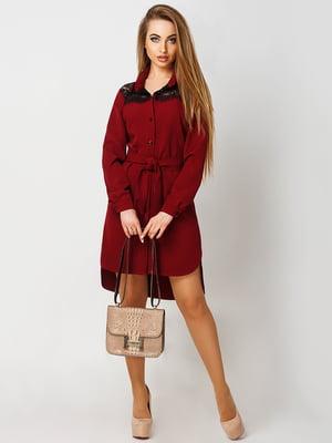 Платье бордовое | 4090571