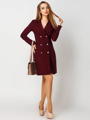 Платье бордовое | 4090573