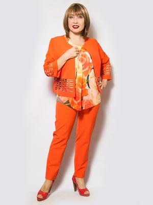 Костюм: жакет, блуза и брюки | 4120200
