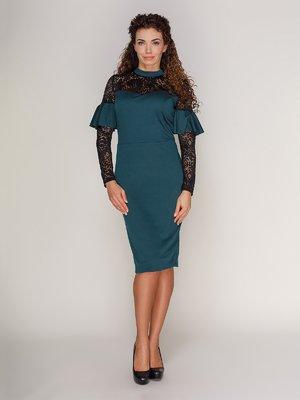 Платье темно-зеленое | 3821197