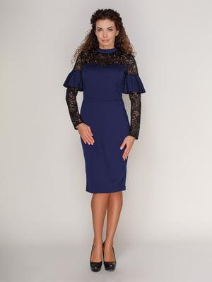 Платье темно-синее | 3821196