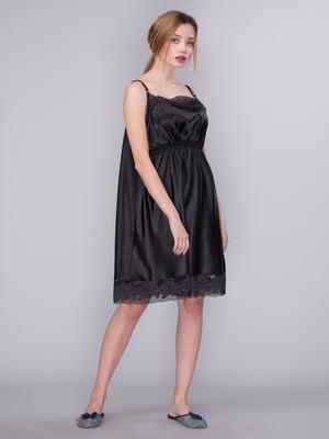 Сорочка нічна чорна | 4118155