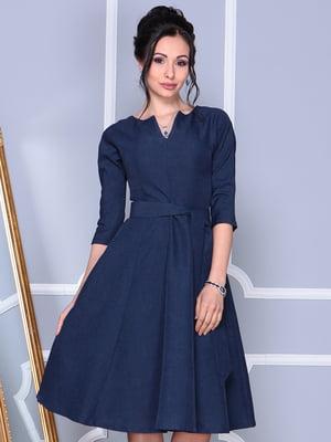 Платье темно-синее | 4127916