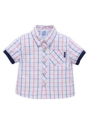 Рубашка белая в клетку   4128133