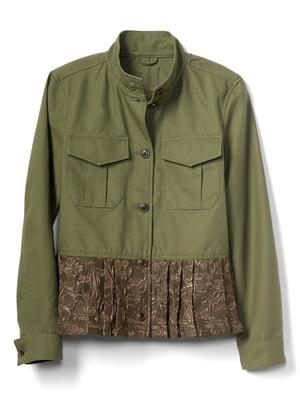 Куртка кольору хакі | 4129029
