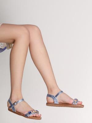 Сандалии голубые | 3121225