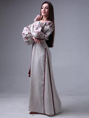 Сукня бежева з вишивкою | 3954778