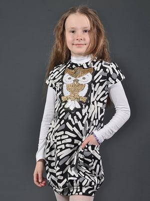 Сукня-туніка комбінованого забарвлення | 4140693