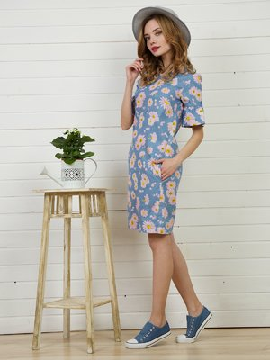 Платье голубое | 4141271