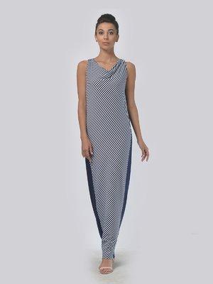 Сукня синьо-біла в смужку | 4142088