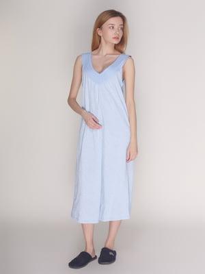 Рубашка ночная голубая | 4137560