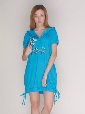 Платье бирюзовое | 4137564