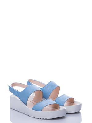 Босоножки голубые | 4141408