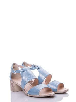 Босоножки голубые | 4141415